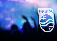 Philips logo on screen