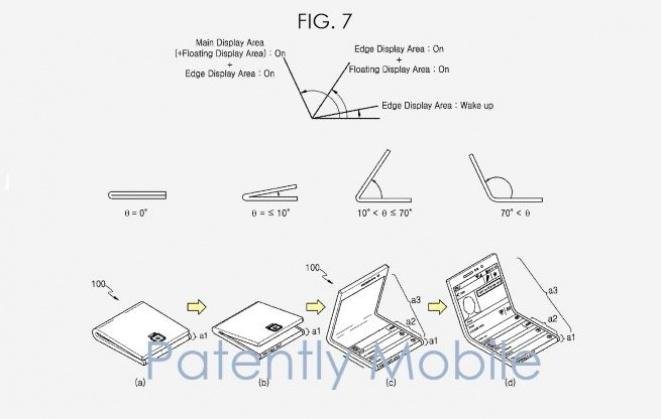Samsung floating display