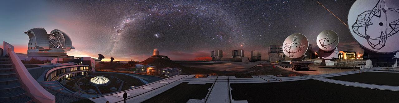 ESO observatories  in Chile - credit ESO/ESA