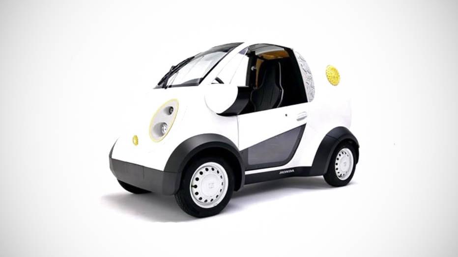 Honda 3D printed car - photo credit Kabuku