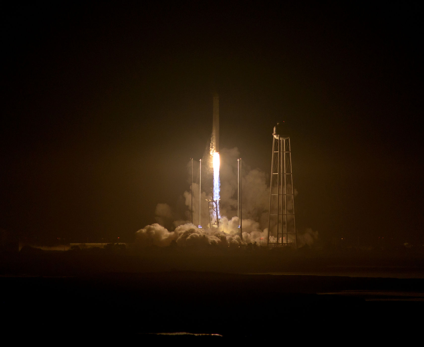 Antares launching - photo credit NASA